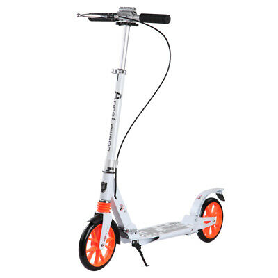 AU95 • Buy Hand Break Design Big 2 Wheels Push Scooter 200Mm Adult Child Commuter White