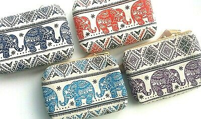 £4.50 • Buy Unbleached Cotton Coin Purse With Baby Elephant Design