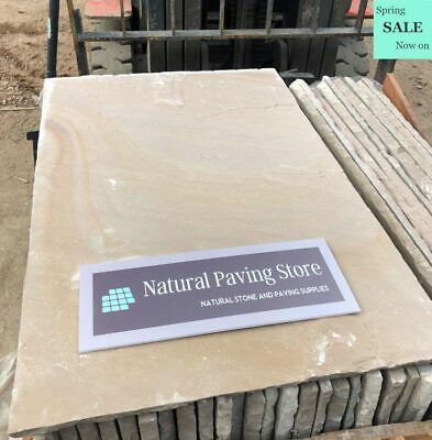 Raj Green Sandstone Paving Natural Indian Patio Stone Slabs 600x900x22mm • 160.30£
