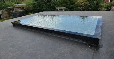 FquFlat Roof Light, Skylight, Glass Roof Light 500mm By 500mm - Any Size/Bespoke • 175£
