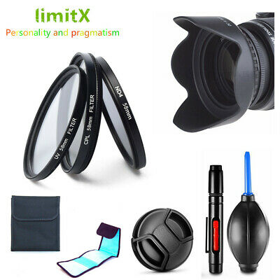 52mm Filter Kit CPL ND UV / Lens Hood / Cap / Cleaning Pen For Camera And Lens  • 10.99£