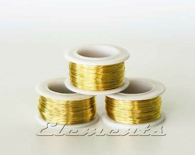 £2.89 • Buy Brass Non Tarnish Jewellery Craft Round Wire On Reel  Not Plated 0.4mm - 1.0mm