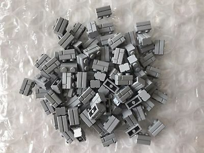 LEGO Lot of 8 Light Bluish Gray 1x4 Technic Brick Pieces