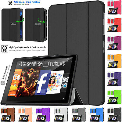 Magnetic Leather Smart Flip Stand Case Cover For Amazon Kindle Fire HD 10  2019 • 6.46£