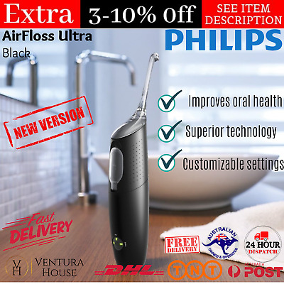 AU240.99 • Buy Philips Sonicare AirFloss Ultra Oral Superior Technology Triple Burst Black New