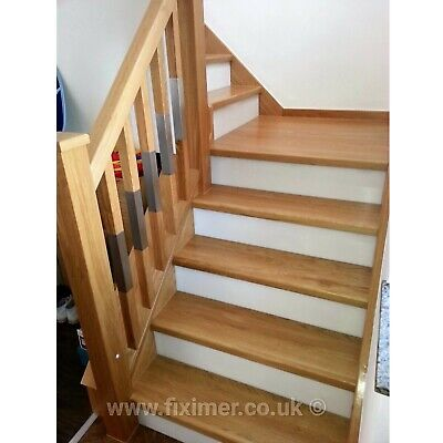 £807.53 • Buy Oak Staircase Steps Cladding System 13 Straight Treads With Nosing 40mm