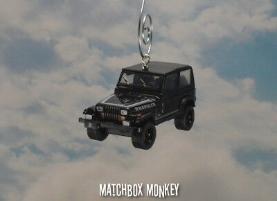 AU46.13 • Buy 1989 Jeep Wrangler Soft Top Custom Ornament 1/64 XJ YJ Black Out Sahara Adorno