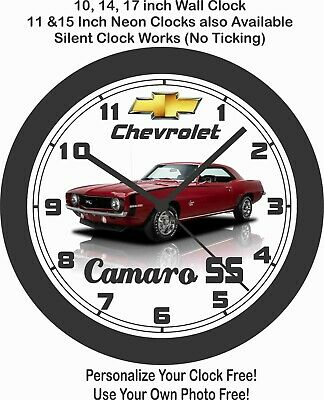 $51.99 • Buy 1969 Chevrolet Camaro Ss Wall Clock-mustang, Chevelle, Charger, Road Runner