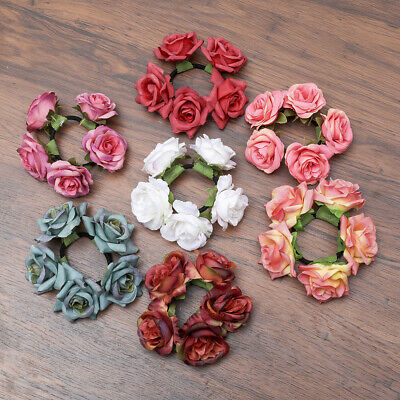 $ CDN4.41 • Buy Girl Wedding Bride Elastic Flower Hair Ring Hair Band Garland Hair Accessories