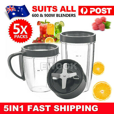 AU25.95 • Buy For Nutribullet Tall Cups Extractor Blade Lids Blender 600 900w Replacement Part
