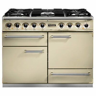 Falcon F1092DXDFCR-CM Range Cooker Dual Fuel - Cream / Chrome • 2,999£