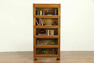 $1650 • Buy Oak Arts & Crafts Antique 5 Stack Lawyer Craftsman Bookcase #31148