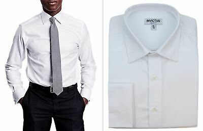 Mens Formal Shirt Invictus Regular Fit Easy Iron Cotton Double French Cuff • 19.99£