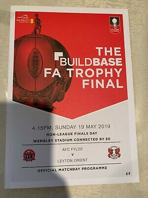 £3 • Buy The Buildbase FA Vase And FA Trophy Finals Programme 2019 MINT