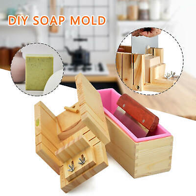 Silicone Soap Mold Box Loaf Cake Maker Cutting Slicer Cutter Making Tool Kit UK • 16.99£