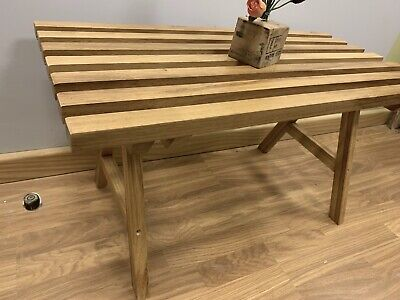 Hand Made Solid Wood Iroko African Teak Coffee Table • 125£