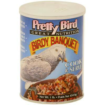Pretty Bird Birdy Banquet - Quick-to-Cook Meal For Parrots Conures Eclectus Food • 14.07£