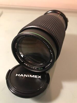 Hanimex Automatic Zoom Lens C- Macro 1:4.5 F=80-200mm  52 Diameter No 198237 • 10£
