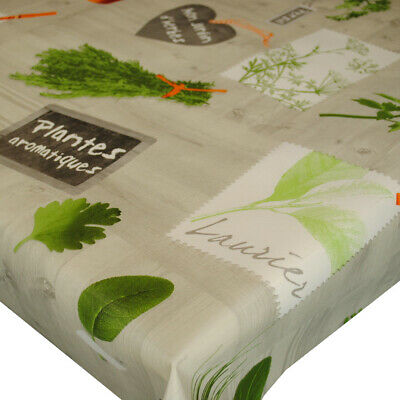 French Herb Pots VINYL WIPE CLEAN PVC TABLECLOTH • 18.19£