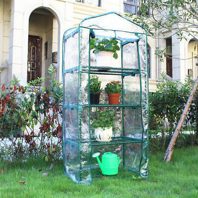 NEW 4-Tier Mini Greenhouse Growhouse Garden PVC Cover NEXT DAY DELIVERY • 22.95£