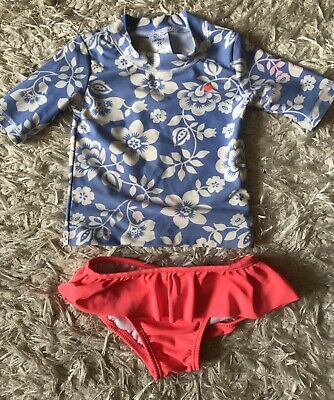 4f7097036 CARTER's Girls L/S Rashguard Shirt 2pc Swimsuit Sz 2T • 5.00$