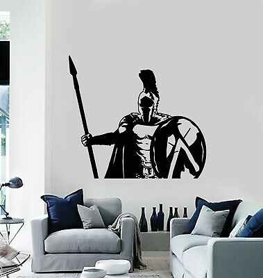 $20.99 • Buy Vinyl Wall Decal Spartan Soldier Warrior Military Spear Shield Stickers (g652)