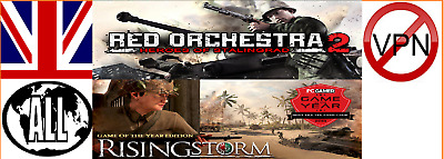 Red Orchestra 2: Heroes Of Stalingrad With Rising Storm Steam Key NOVPN RegFree • 6.98£