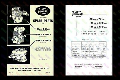 Villiers Lightweight Engine Illustrated Spare Parts List - VEC617 • 5.75£