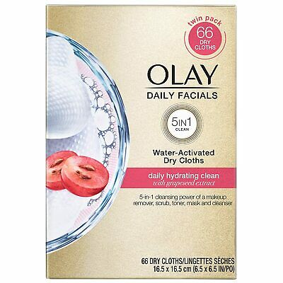 AU20.58 • Buy Olay Daily Facials, Daily Hydrating Clean  5-in-1 Makeup Cleansing, 66 Cloths