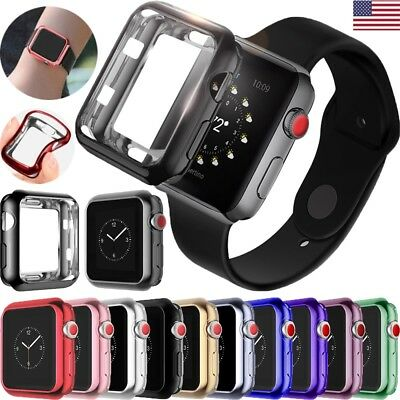 $ CDN3.41 • Buy For Apple Watch Series 4 3 21 TPU Bumper IWatch Protect Case Cover 38/40/42/44mm