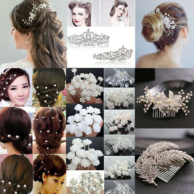 $0.83 • Buy NEW Women Pearl Crystal Crown Hair Pin Clip Wedding Bridal Hair Comb Accessories