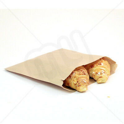 £2.50 • Buy 7 X 7 Brown Kraft Strong Paper Food Bags Sandwiches Groceries Sweet Strung X 100