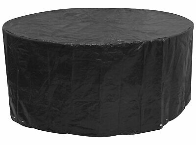 £22.99 • Buy Round Picnic Table 8 Seater 6 Seater Pub Type Waterproof Bench Cover Black NEW