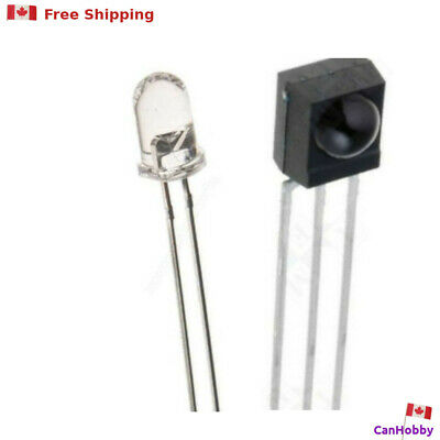 $ CDN3.99 • Buy  IR Emitter And Receiver- 38KHz - TL1838 / 4838  - 5mm LED PhotoDiode - CanHobby