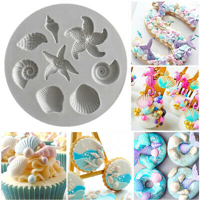 £3.49 • Buy UK 3D Silicone Sea Shell Fairy Mermaid Tail Scale Cookies Chocolate Baking Mould