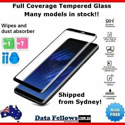 AU8.99 • Buy Xiaomi Redmi Note 5 6 7 Pro 3D Full Cover Tempered Glass Screen Protector LCD