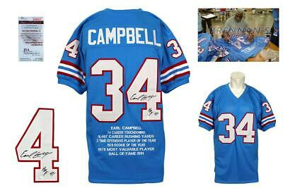 $ CDN175.44 • Buy Earl Campbell Autographed SIGNED Jersey - Blue - Beckett Authentic - Stat