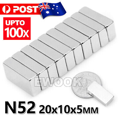 AU12.95 • Buy N52 Super Strong Magnets Block Rare Earth Cuboid Neodymium Super Strong Magnet