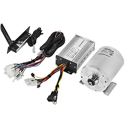 48V 1800W Brushless Motor Controller Throttle Wire DIY Go-Kart 4500RPM Bicycle • 115.60£