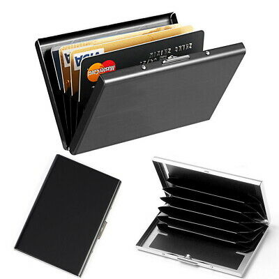 AU8.99 • Buy RFID Blocking Stainless Steel Slim Wallet ID Credit Card Holder Case Money Clip