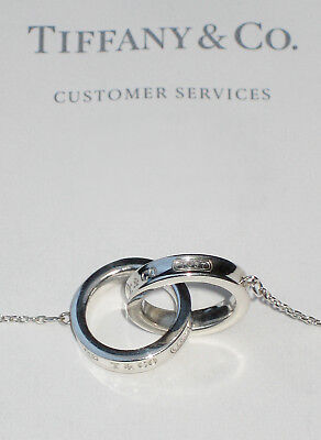 £274.99 • Buy Tiffany & Co Sterling Silver Chain Necklace 1837 Interlocking Circles RRP £350