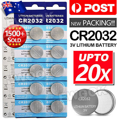 AU4.95 • Buy 20x New Cr2032 3v Lithium Cell Battery 5004lc 2032 Br2032 Button Batteries Oz