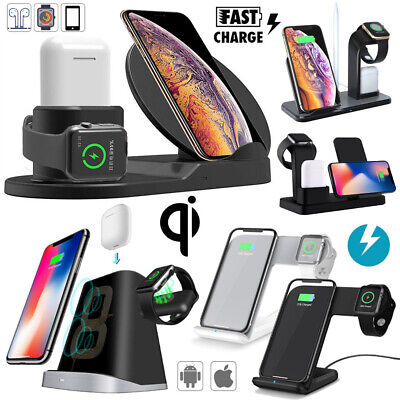 $ CDN13.17 • Buy 3in1 Qi Wireless Fast Charger Dock Stand For Apple Watch Airpods IPhone X XR XS