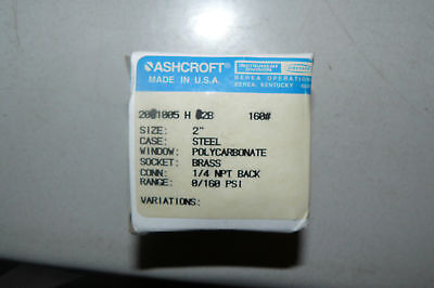 $19.99 • Buy Ashcroft 20-1005h1b Pressure Gauge 0 To 100 Kpag 2  Size 1/8 Npt New