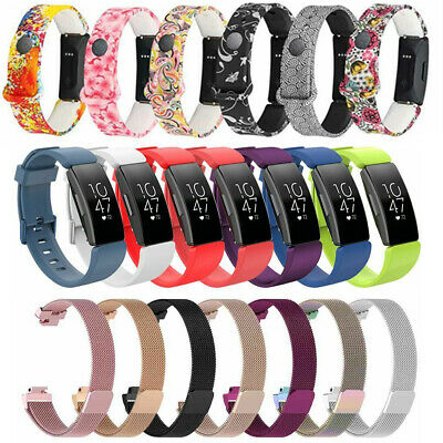 AU4.59 • Buy For Fitbit Inspire/Inspire HR Stainless Steel Magnetic/Silicone Band Watch Strap