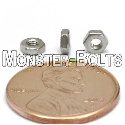 $6.36 • Buy M2 - 0.40  Metric Hex Nuts, A2 / 18-8 Stainless Steel DIN 934, Coarse Thread