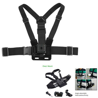 $ CDN12.03 • Buy Adjustable Chest Mount Body Harness Accessories Belt Strap For Action Camera