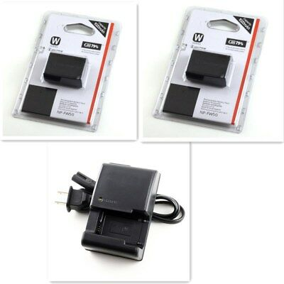 $ CDN44.17 • Buy 2pcs NP-FW50 Battery + Charger For Sony A6300, A6000, A5000, A3000, A7R, Alpha 7