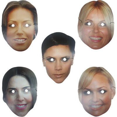 Spice Girls Face Masks Posh Scary Baby Ginger Sporty Fancy Dress Girl Group Pop • 2.75£