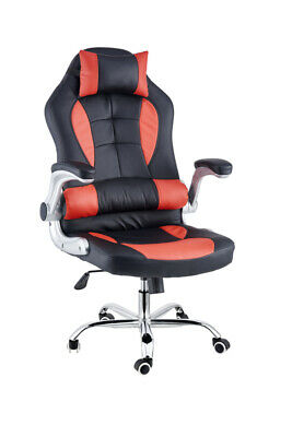 AU129 • Buy Extra Wide Deluxe Gaming Chair Office Computer Seating Racing Pu Leather Red
